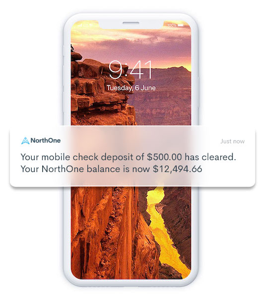 Push Notifications advising client check has cleared