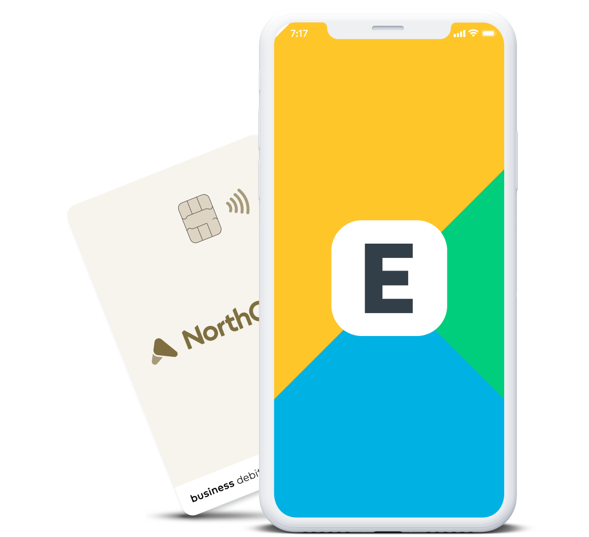 Expensify app logo on a smartphone
