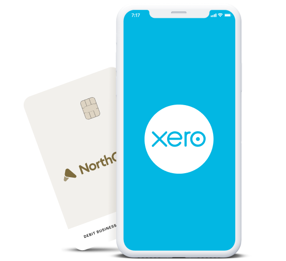light blue smartphone background that says 'xero' in white