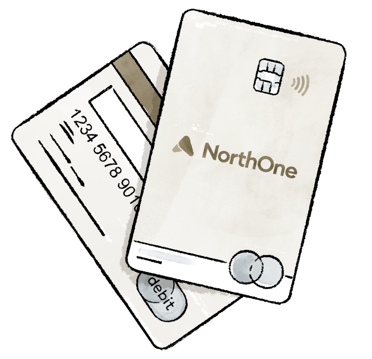 NorthOne card with rocket ship
